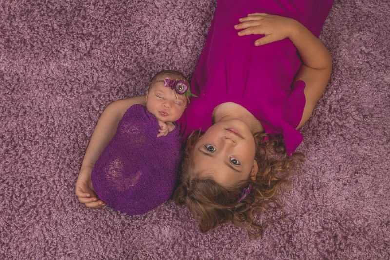 newborn and sibling photograph