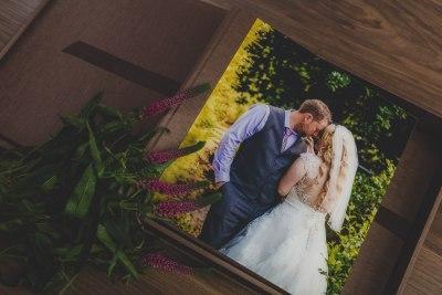 A wedding album inside a box