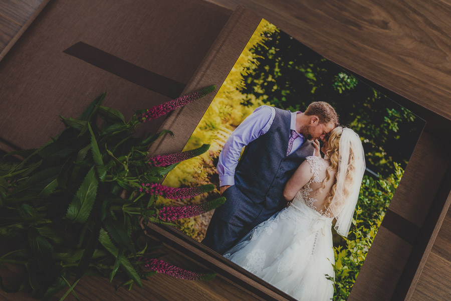 A wedding album inside a box