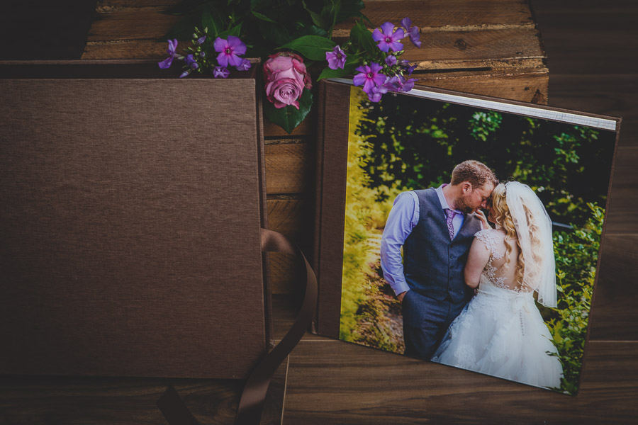 wedding album and protective box