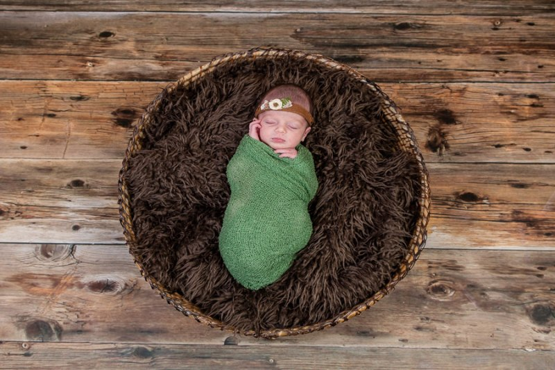 Newborn Photo Taken in Cardiff