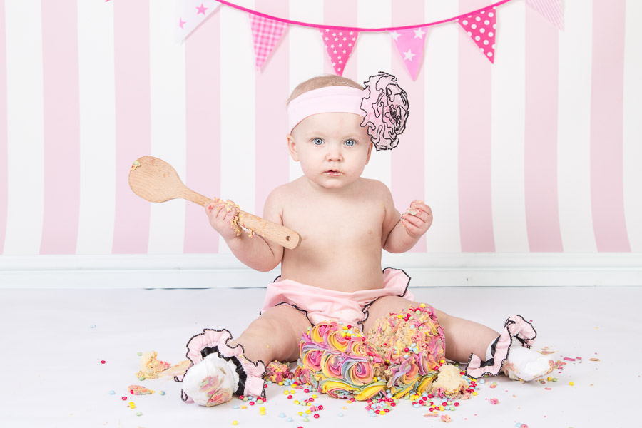 Cake smashed up by a little one
